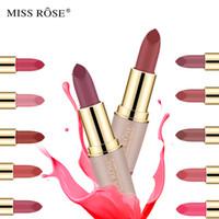 Rossetti rossetti opachi rossetti rossetti lunghi rossetti mancano la rosa marchio professionale professionale dark rosa marrone labbra trucco