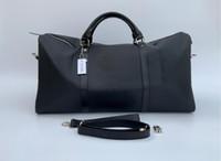 54cm 여성 여행 가방 고품질 남성 스포츠 어깨 더플 백 수하물 잠금 먼지 가방 일련 번호