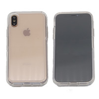 حالة التماثل الواضحة لجهاز iPhone Xs Max XR X 8 7 Plus 6 6S PC + TPU Defender Hybrid Cover Robot Armor