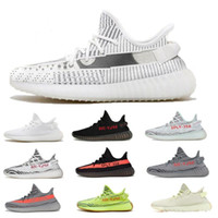 yeezy yeezys yezzy boost sply 350 v2 2019 Best Static Reflectiv Men casual shoes With Box Zebra Static Black Cream White Sesame Shoes Mujer Sport Sneakers US 5-13
