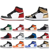 7c082be934f0 New Arrival. Best Quality 1 OG Mens High Basketball Shoes Black Toe Triple  White Game Royal Satin Shattered Backboard Designer Sport Sneakers