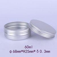 60ml leere Flaschen Gläser Aluminiumbehälter 60g kosmetischer DAB-Werkzeug-Speicher-Wachs-Metall-Blechdosen-Dosen 60 ml G-Balsam-Rumpf-Handwerksfälle