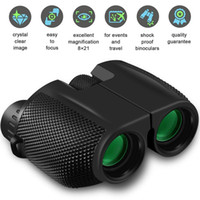 10x25 kikare HD All-optisk dubbelgrön film Vattentät kikare teleskop för jakt resa sport trekking fågel klocka