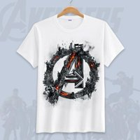 T-shirt da uomo di fine estate di Avengers Endgame Hot Cartoon 3D Stampa Top manica corta Colorata Marvel Fashion Tees