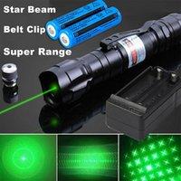 Ensino 900Miles Poderoso 2in1 Green Laser Caneta Ponteiro Ponteiro Tampão 5mw 532NM Gato Toy Militar 009 Green Laser Cinto Clipe + 18650 Bateria + Carregador