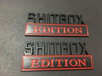 شعار SHITBOX EDITION الكروم. ماتي، أحمر أزرق شارات سوداء يناسب شاحنة FREE SHIPPING