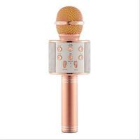 WS858 USBs Microfoni Wireless professionisti condensatori karaoke mic supporto bluetooth Radio mikrofon studio di registrazione in studio WS858