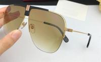 Atacado novo designer de moda homens óculos de sol 1094 de Metal pilotos de armação de madeira pernas uv400 proteção polarizada eyewear estilo top vintage