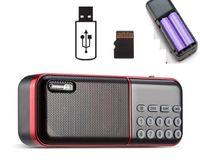 Pocket Radio FM Radio Mini ricaricabile ricevitore portatile di altoparlanti con 2 batterie luce istantanea di TF di sostegno della carta di musica MP3 Player