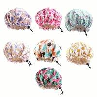 Çocuklar Saten Bonnet Ayarlanabilir Uyku Cap Çift Katmanlı Saç Bonnet Gece Şapka P31B