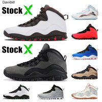 10s Mens Basketball Shoes Chicago Ombra Ali Super Bowl LIV DUCK CAMO Cemento Tinker 10 Racer Blu Cool Grey Jumpman Sneaker Sneakers