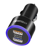 QC 3. 0 Smart Dual Ports USB Car Charger cell phone fast char...