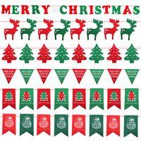 Bandeiras festa de Natal Suprimentos Flags Bandeira Decorações do Natal Decoração coloridos Papai Noel Snow Man Xmas Flags RRA1832
