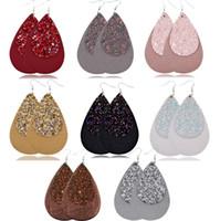Кожаные серьги Новый Кожезаменитель Teardrop серьги ювелирных изделий способа леопарда Printed PU для женщин GB1256