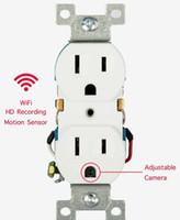 2020 Novo soquete de parede AC quente 1080P Full HD câmera de vigilância de vídeo sem fio, gravador de voz e vídeo