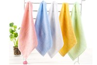 DHL200pcs Bambo fiber square baby towel soft absbent bambooo small square towel children's baby towel size 25 * 25cm