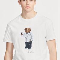 TAMAÑO de los EEUU Polos oso camiseta unisex de manga corta camiseta de algodón tee camisas M L XL 2XL dropshipping