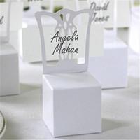 도매 - 2016 새로운 100PCS / 많은 의자 장소 카드 홀더와 상자 최고의 사탕 상자 결혼식 호의 상자, 이벤트 파티 용품을 부탁