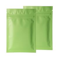 Diverse dimensioni 100pcs Sigillatura termica Sigillatura a Ziplock Blocco Zooms Lacrimogeni opaco Green Verde Alluminio Zip Blocco Zip Sacchetto di plastica