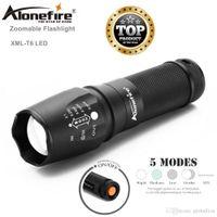 Alonefire G700 X800 كري XML T6 L2 U3 LED عالية الطاقة التكبير التكتيكية مصباح يدوي LED فائقة مشرق الشعلة فانوس 18650 بطارية قابلة للشحن