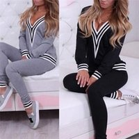 2 Piece Set 2020 Womens TrackSuit With Hood Long Sleeve Crop Top And Legging Pants Black