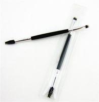 새로운 건강 2IN1 베벨 눈썹 브러시 메이크업 양방향 경사 눈썹 브러시 속눈썹 경기자 볼륨 도구 pincel maquiagem 전문