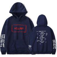 Hommes Hoodie lil peep femmes sweat à capuche loisirs Streetwear coton noir drôle Imprimer Hip Hop Gardez Hellboy Haut à capuche
