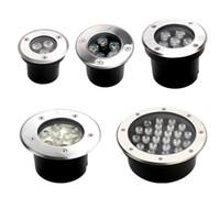 옥외 LED 지하 빛 플로어 램프 IP67 방수 3W / 6W / 9W 85-265V LED 옥외 지상 정원 경로 층 마당 램프 풍경 빛