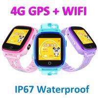 DF33 4G GPS WIFI Kinder Smart Watch Reale wasserdichter Touch Screen Kind-Uhr-Support SIM-Karte SOS-Ruf-Baby-Armbanduhr