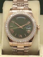 Роскошные мужские часы из нержавеющей стали Автоматическая Механика Movment DayDate с алмазным роскоши часы Мужские часы Оригинальный Застежка замок.