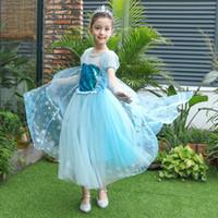 Halloween Theme Fatume Saias Azul das Crianças Princesa Vestido Crianças Reproduzir Fase Performance Skirt 110 a 150cm