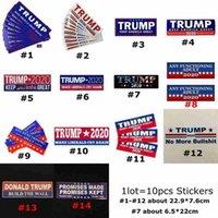 Donald Trump 2020 Car Adesivos 7,6 * 22,9 centímetros adesivos mantenha tornar a América Grande decalque para Car Styling Veículo Paster 14Styles CYZ2589