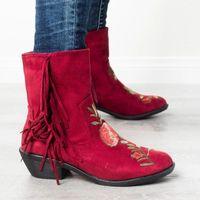 Hot Sale-Wenyujh Women Snow Woman Knee-high Pop Rhinestone Decoration Wild Winter Plus Velvet Thick Boots Nice