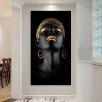 1 Pcs Canvas Painting Wall Art Pictures Prints Black Woman O...