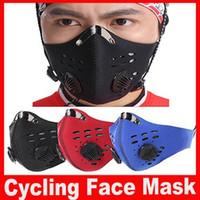 Transpirable carbón activado máscara Ciclismo de montaña bicicleta de carretera bicicleta de media mascarilla corrientes de los deportes a prueba de polvo de ciclismo