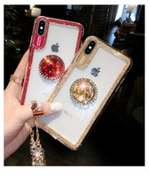 Rhinestone Bracket Phone Case For iPhone SE 2 11 Pro Max Xr ...