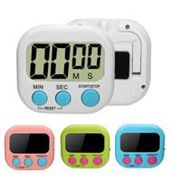 Büyük LCD Dijital Mutfak Yumurta Pişirme Zamanlayıcı Count Down Saat Alarm Kronometre Ödev Egzersiz Spor Için Manyetik Mutfak ...