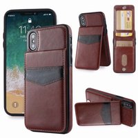 Çok İşlevli KIMLIK Kart Cep Kılıf iphone 12 Pro 11 XR XS Max 8 7 6 5 Samsung Galaxy Note 10 9 S10 Artı S20 Retro Lüks Paketi Cüzdan Deri + TPU Tutucu Çerçeve Kutusu Kapakları