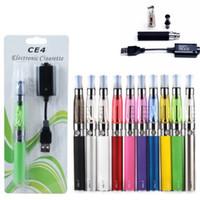 Günstige Ego Evod CE4 Blister Kit elektronische Zigarette Starter-Kits mit 650 900 1100mAh Ego-T Batterie CE4 Atomizer Clearomizer E Zigarette Kit