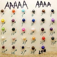 Hochwertige natürliche Süßwasserzuchtperlen 6-7mm runde lose Perlen Großhandel DIY Süßwasser-Zuchtperlen Schmuck Zubehör gefärbt