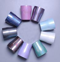 10oz Glitter kıvrık Tumbler Stianless Çelik şarap Kapak Gökkuşağı Tumbler ayaksız şarap kadehleri ile Eğimli Tumbler gözlük