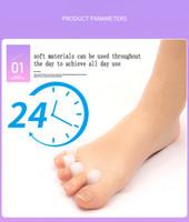 Toe Silicone Separator Pé Ferramenta Cuidados Toe de hálux valgo Corrector Gel de silicone Joanete Corrector Toe Protector 100pair atacado