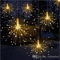 DIY 야외 방수 크리스마스 LED 문자열 조명 불꽃 놀이 배터리 Garland 파티오 결혼식을위한 장식 요정 조명