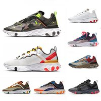 Nike Camo Green Tour Yellow React element UNDERCOVER X 87 Mens running shoes men women 55 Orange Peel triple black white trainers sports sneakers
