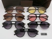 2019 nova rodada óculos de sol homem mulher óculos tom designer de moda quadrado óculos de sol uv400 ford lentes tendência óculos de sol tf0381 com caixa