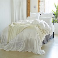 Twin Queen King Size Beddingset Washed Mermaids White Beddin...