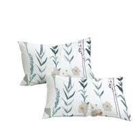 Estuche de almohada Flor Planta Print Pillowcasas Simple Estilo Poliéster Funda Moda para Dormitorio Use Decoración para el hogar