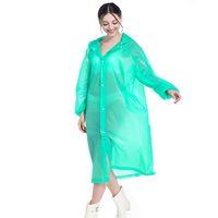EVA 레인 코트 비 일회용 농축, 솔리드 레인 코트 E-친절한 방수 비옷 야외 여행 긴 비옷 LJJA3831