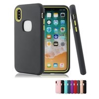 SILICONE Defender Case für das iPhone XR XS MAX X 8 7 6 plus 3 in 1 Hybrid-PC-TPU-Handyhülle für Samsung S9 plus Note 9 Matt-Finish-Luxus
