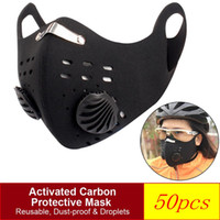 Cycling Protective Face Masks With Activated Carbon PM2. 5 An...